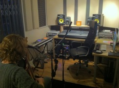 Recording With Chris Young in his sexy home studio!