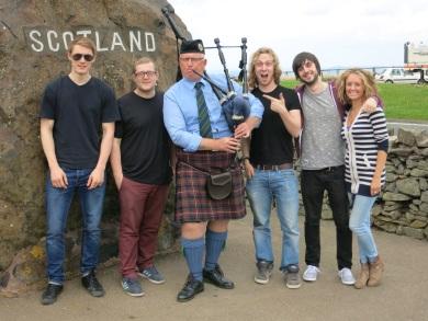 Beat Collective Gig in Edinburgh. Scottish border pit stop!