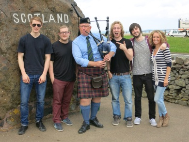 Beat Collective Gig in Edinburgh. Scottish border pit stop!