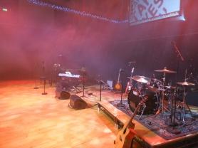 Stage setup.