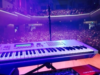 Here's the view from behind Martin Longhawn's keyboards.
