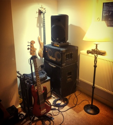 Bass Corner in my little home studio.