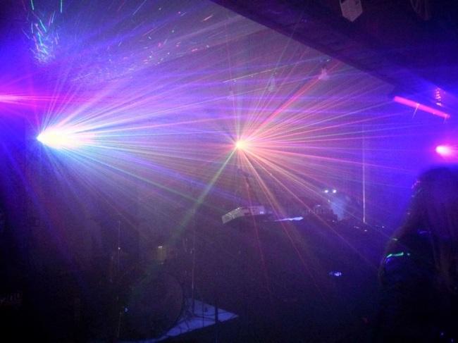 Laser lights at Rogan gig in Leeds.