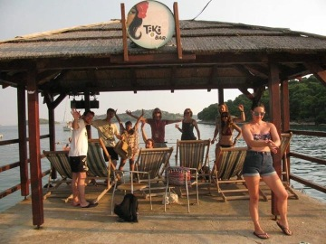 Tiki Pier with some of our party