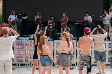Some of the audience at Soundwave