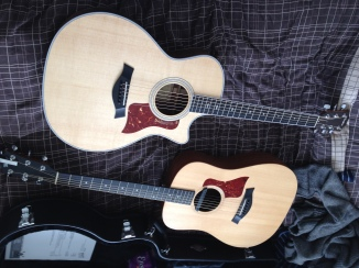 Top is my new Taylor 414ce and below is my old Big Baby Taylor with Fishman Rare Earth Humbucker pickup.