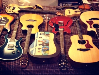 A few guitars…