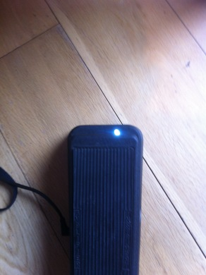 Wah pedal with new LED thanks to Darren Watson